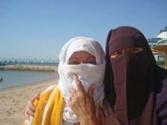 Frauen mit Burka